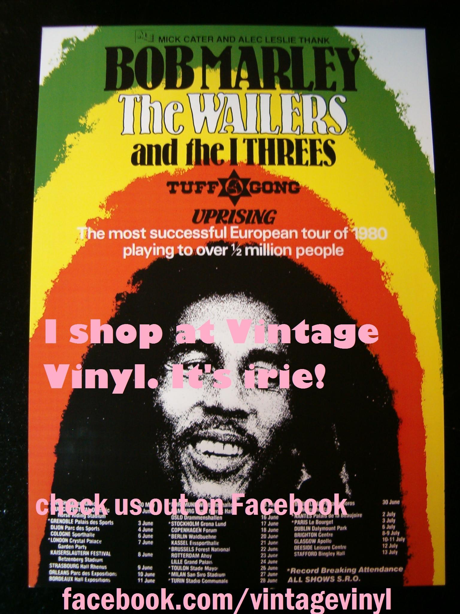 Bob Marley Uprising European Tour Poster Repro Featuring